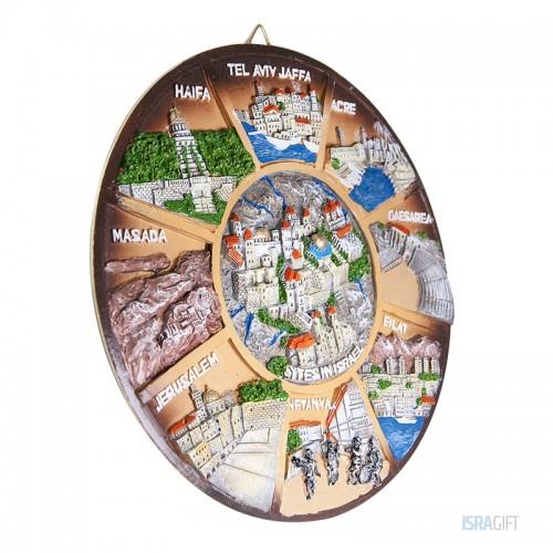 Тарелка Библейская Земля 3D