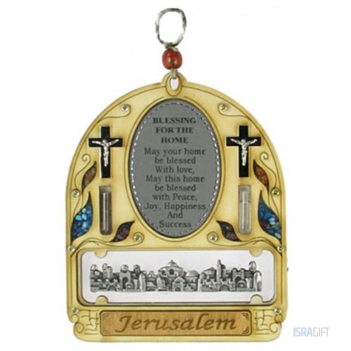 Благословением Дома с панорамой Иерусалима  на англ.языке