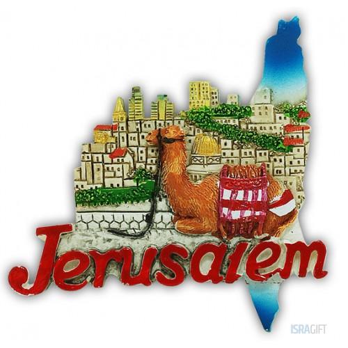 Магнит  Иерусалим 3D